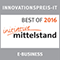 Auszeichnung 'Innovationspreis IT - 2016 Best of E-Business der Initiative Mittelstand' für www.heizoel-preisanfrage.de